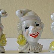 3 Unusual Clown Figurines