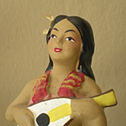 SOLD Vintage 1950's Hawaiian Hula Girl Nodder Bobber