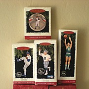SALE (6) Vintage Hallmark Sports Ornaments Mint In Boxes