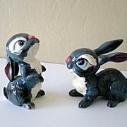 SALE Disney's Thumper Kreiss & Co. Salt & Pepper Figurines