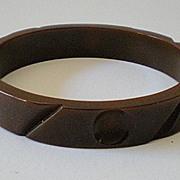 SALE 1930's Carved Milk Chocolate BAKELITE Bracelet