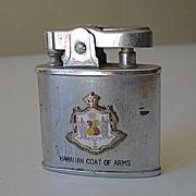 Vintage Hawaiian Cigarette Lighter Coat Of Arms