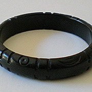 SALE Vintage 1930's Carved Bakelite Bracelet
