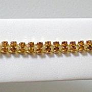 Lovely Amber Colored Rhinestone Bracelet