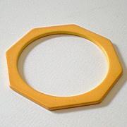 SALE Octagon Cut BAKELITE Spacer Bracelet