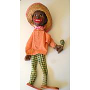 SALE Fabulous Old Black Americana Marionette Puppet