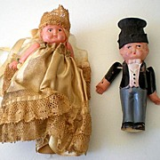 1920's Celluloid Bride & Groom Dolls
