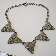 Very Old Necklace Grape Cluster Links