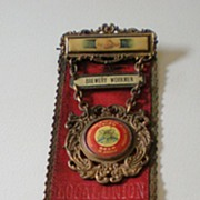 SALE Antique Brewery Union Pinback Ribbon