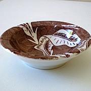 Vintage Tepco Berry Bowl Brown Hawaiian Bananaleaf