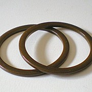 Matched Pair 1930's Bakelite Spacer Bracelets