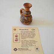 Miniature Hand Made Representation of Ancient Peruvian Pot