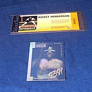 1991 Rickey Henderson Silver Star Ticket & Hologram