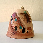 Vintage Hand Made Native American Pottery Bell