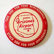 Vintage Airport Aviation Advertising Pocket Mirror