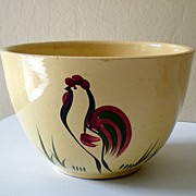 SALE Large Vintage Watt Pottery Mixing Bowl Rooster #65