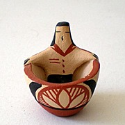 SOLD Signed Miniature American Indian Pottery