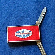 "Vintage Pocket Knife, File & Money Clip ""Port of Los Angeles"""