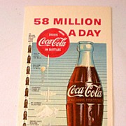 1957 Coca Cola Advertising Ink Blotter