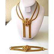 SALE Fabulous Mid Century  Demi Parure Bracelet & Necklace