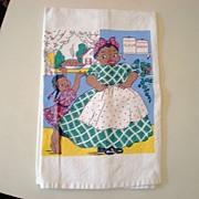 SOLD Vintage Black Americana Dish Towel Mammy & Pie