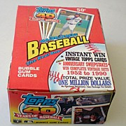 1991 Topps Major League Baseball Wax Box 36 Packs