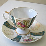 """Lovely Vintage """"Royal Sealy"""" Footed Cup & Saucer"""