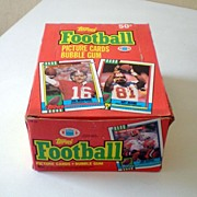1990 Topps Football Cards Box 36 Wax Packs With Bubble Gum