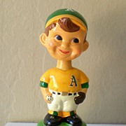 SALE Vintage 1960's Baseball Bobblehead Advertising Chevy Dealers