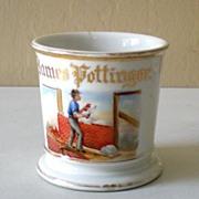 """SALE Rare Antique Occupational Shaving Mug Marked """"GDA France"""""""