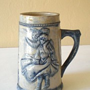 Vintage Stoneware Pottery Advertising Mug San Francisco