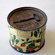 1939 Unopened Coffee Tin w/ Key World's Fair