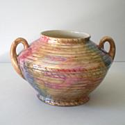"SALE Large 1930s Pottery Vase Signed ""J. Fryer Ltd"" Tunstall England"