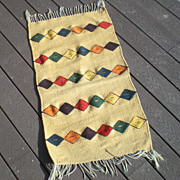 SALE Vintage Hand Woven Indian Rug