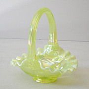 "Lovely Vintage Fenton Art Glass Basket Horse Head ""Taylor"""