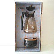 "Retro Silex ""Starlight"" Coffee Service Carafe &  Warmer NRFB"