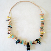 SALE Fabulous Vintage American Indian Fetish Necklace