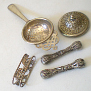 SALE Group Of Victorian Table Items Silver Plated