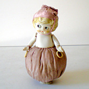 Large Unusual Bisque Doll Pin Cushion