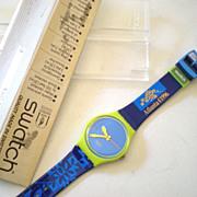 Man's Swatch Watch 1996 Olympics Mint In Case