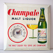 Vintage Advertising Thermometer Champale Malt Liquor