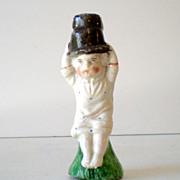 SALE Antique Porcelain Staffordshire Figural Whistle