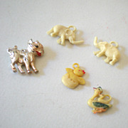 (4) Vintage Cracker Jack Gumball Machine Charms