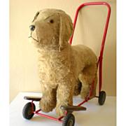 SALE LARGE Plush Ride On Toy Dog On Wheels Lines Bros. Ireland