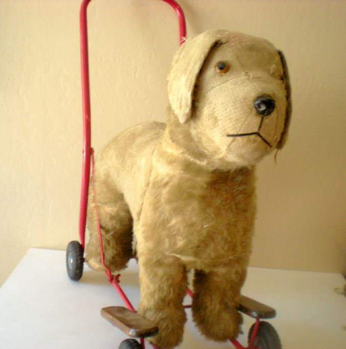 Large Plush Ride On Toy Dog On Wheels Lines Bros Ireland