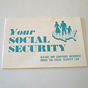 SOLD 1955 Social Security Government Booklet FREE Ship