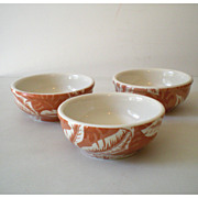 SOLD (3) Wallace China Restaurantware Bowls Palm Leaf