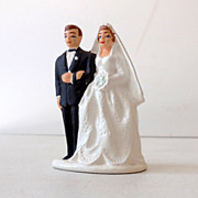 SOLD 1950s Wedding Cake Top Bride and Groom