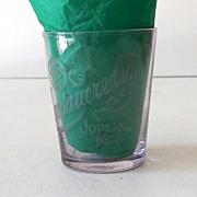 SALE Pre Prohibition Advertising Shot Glass Joplin, Mo