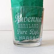 SALE Pre Prohibition Advertising Shot Glass Ravenna Maryland